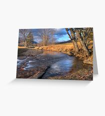 Scene By The Brook Greeting Card