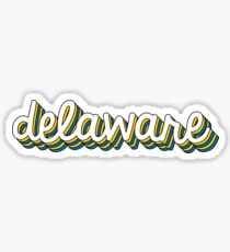 Delaware Retro Sticker