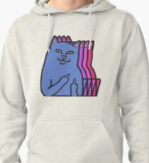 F*ck you cat Pullover Hoodie