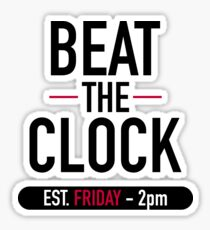Beat the Clock Sticker