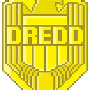 Judge Dredd pixel badge by Rilly579