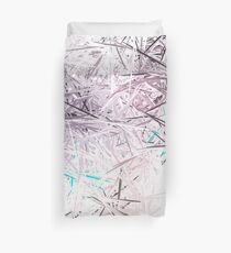 Pastel Lavender Sketch Abstract Design Duvet Cover