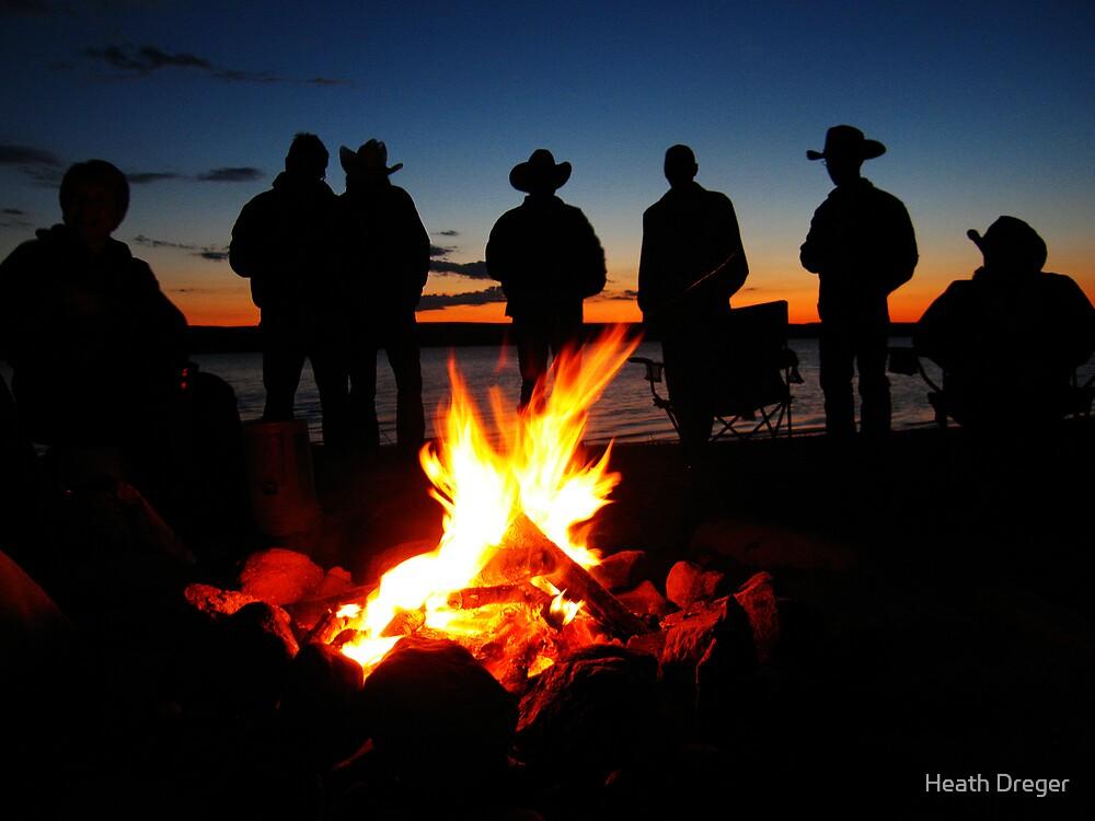 Cowboy Campfire by Heath Dreger