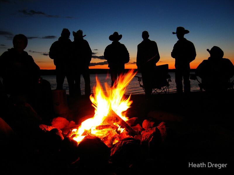 Quot Cowboy Campfire Quot By Heath Dreger Redbubble
