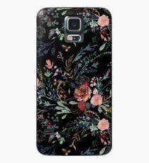 Mitternacht Blumen Hülle & Klebefolie für Samsung Galaxy