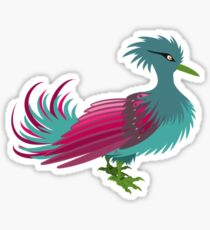 Pink and Teal waterfowl Sticker