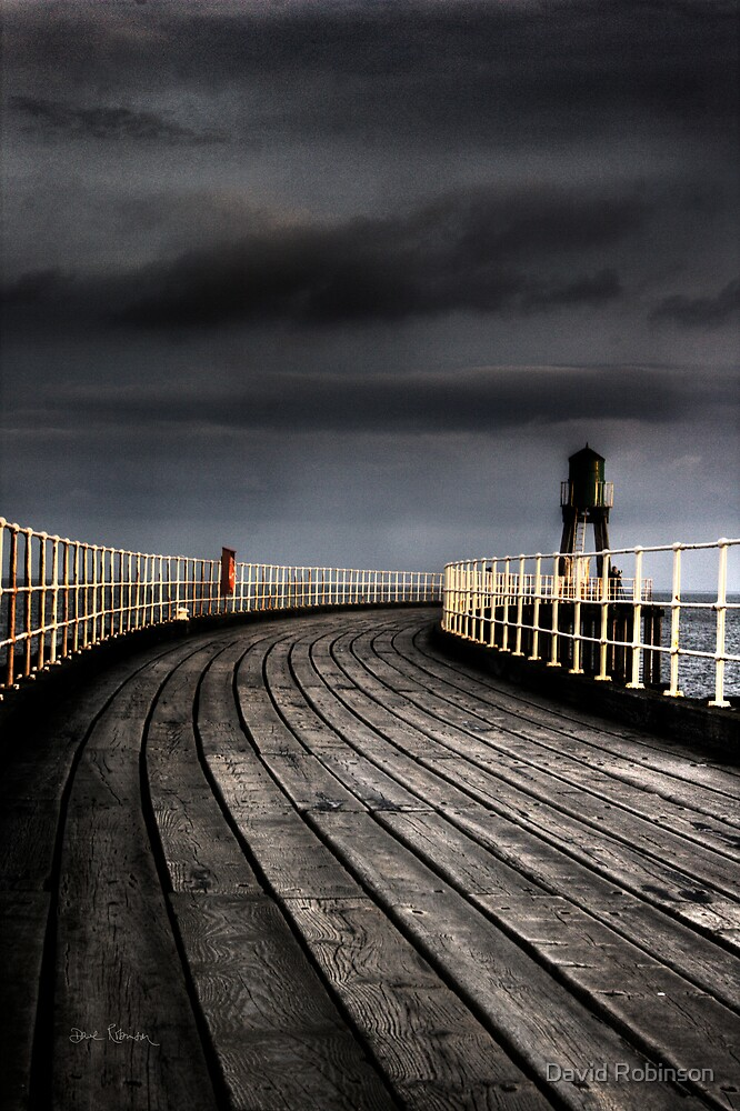 Whitby Pier by David Robinson