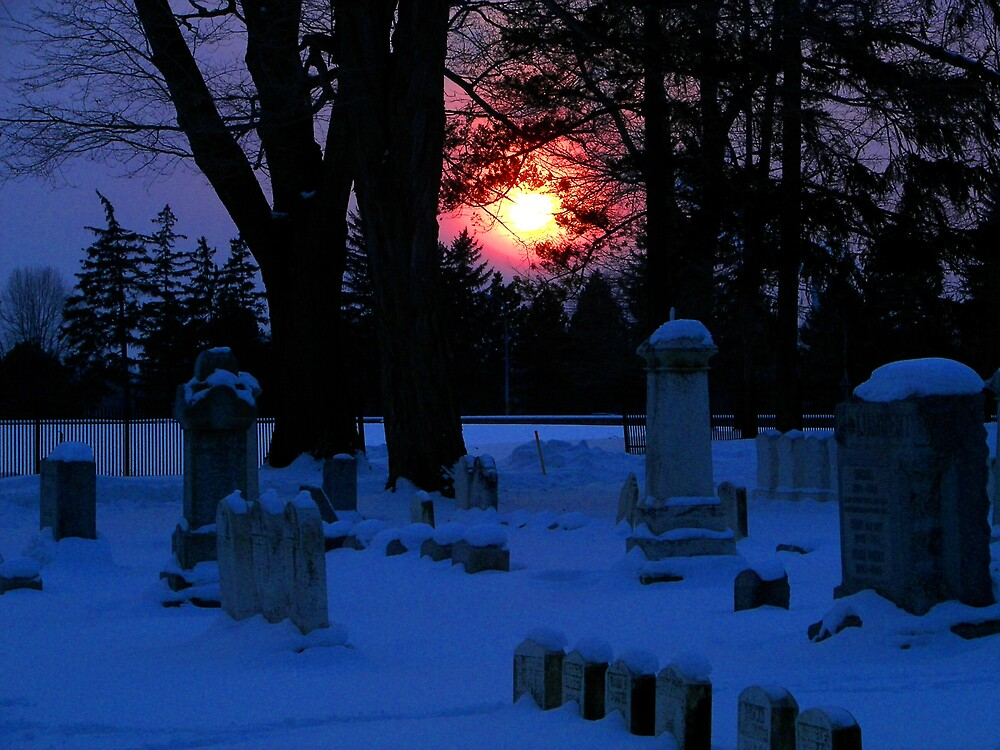 Cemetery Sunset by madmac57
