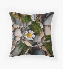Sea Mayweed, Arran Throw Pillow
