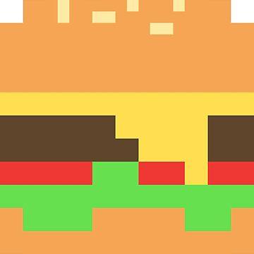 Pixel burger by celerywoulise