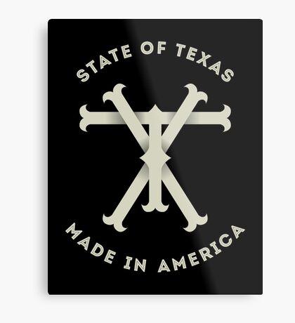 TX Texas Monogram Metal Print