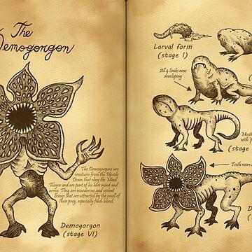 Demogorgons Journal Pages by GwynplaineStuff