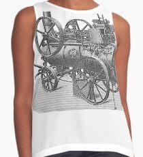 Ancient steam machine, steampunk, steampunk style, steampunk fashion, steampunk clothing, Cyberpunk, Dieselpunk, Fantasy, Science Fiction Contrast Tank
