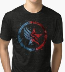 Mass Effect Renegade/Paragon Combo Splatter Tri-blend T-Shirt