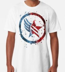 Camiseta larga Mass Effect Renegade / Paragon Combo Splatter