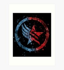 Lámina artística Mass Effect Renegade / Paragon Combo Splatter