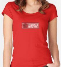 "Rho Psi Eta ""Rhosie"" - Salmon Rose Women's Fitted Scoop T-Shirt"
