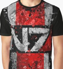 Mass Effect N7 Splatter  Graphic T-Shirt