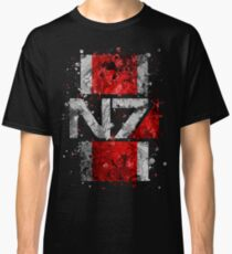 Mass Effect N7 Splatter  Classic T-Shirt