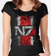Mass Effect N7 Splatter  Women's Fitted Scoop T-Shirt