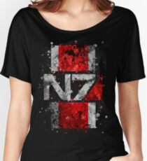 Mass Effect N7 Splatter  Women's Relaxed Fit T-Shirt