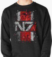 Mass Effect N7 Splatter  Pullover