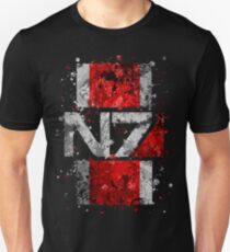 Mass Effect N7 Splatter  Unisex T-Shirt