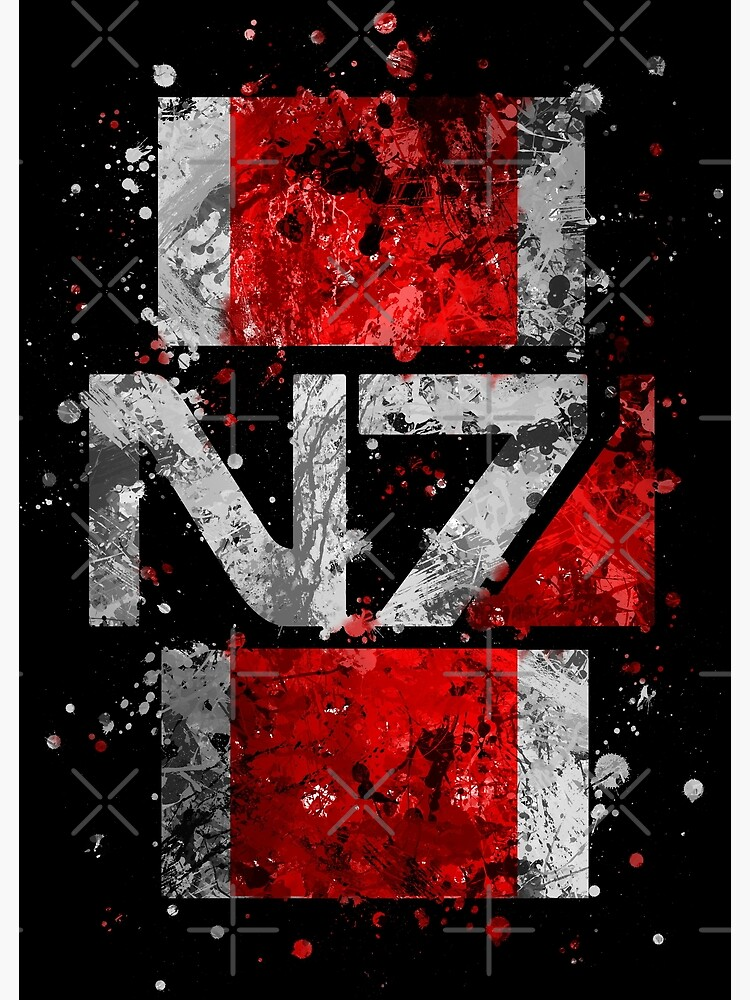 Mass Effect N7 Splatter  by jsumm52