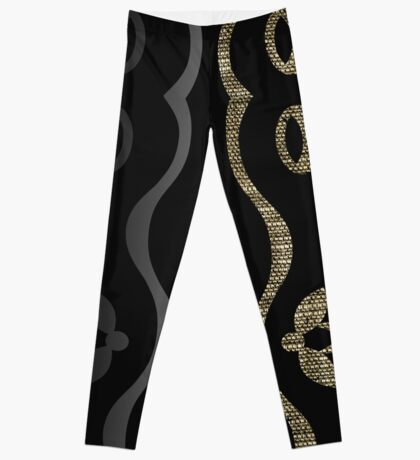 A Black Sexy Curve in Textured Dimensions Leggings