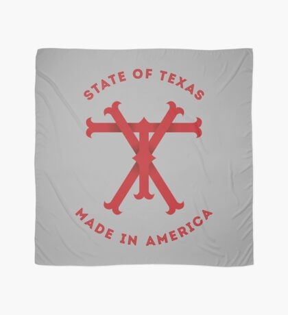 TX Texas Monogram Red Scarf