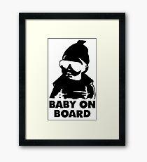 Baby on board new sticker 2018 cute fun Framed Print