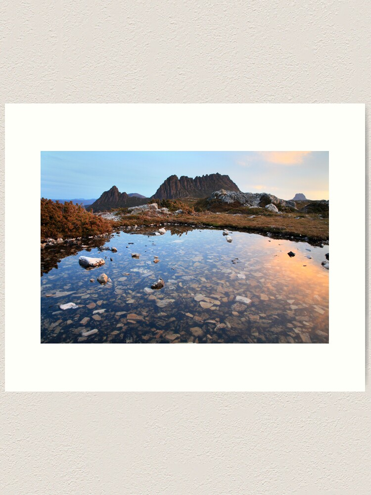 Alternate view of Cradle Mountain Tarn Sunset, Australia Art Print