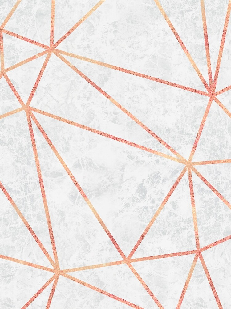 Marmor Geometrische Rose Gold Design von bazzadesigns