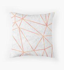 Cojín Diseño geométrico de oro rosado de mármol