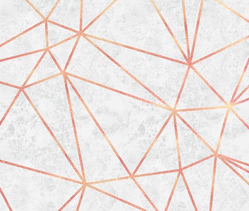 Quot Marble Geometric Rose Gold Design Quot Canvas Prints By