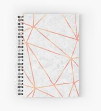 Marble Geometric Rose Gold Design Spiral Notebook