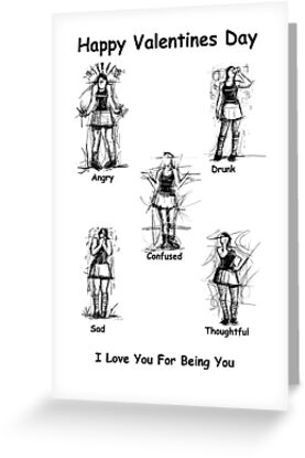 I Love You For Being You : Valentines Card by Samuel Durkin