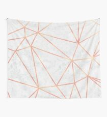 Marble Geometric Rose Gold Design Wall Tapestry