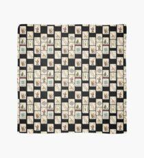 Mahjong Majong Black Tile Pattern Scarf
