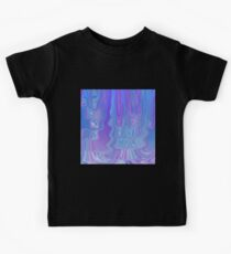 Enter The Flow Abstract Art in Purple and Blue Kids Clothes