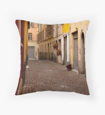Parma Alleyway Throw Pillow
