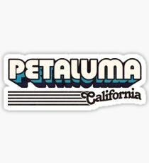 Petaluma, California   Retro Stripes Sticker