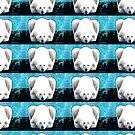 Eisbär - Blau von Marlene Watson