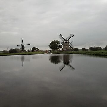 Landscape With Water And Windmills by hajarsdeco