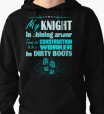 Knight Shining Armor Construction Worker Boots Tee Pullover Hoodie