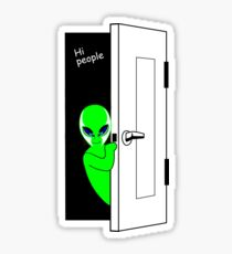 Aliens here, Hi people! Sticker