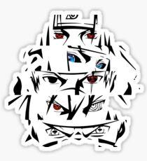 minato, kakashi itachi obito naruto eyes Sticker