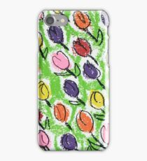 Tulips green iPhone Case/Skin