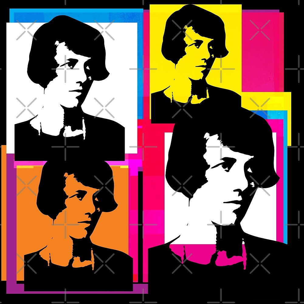 YOUNG ENID BLYTON - POP ART STYLE 4UP COLLAGE ILLUSTRATION by Clifford Hayes