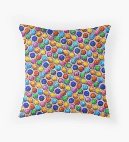 Color Dots #DeepDream Throw Pillow